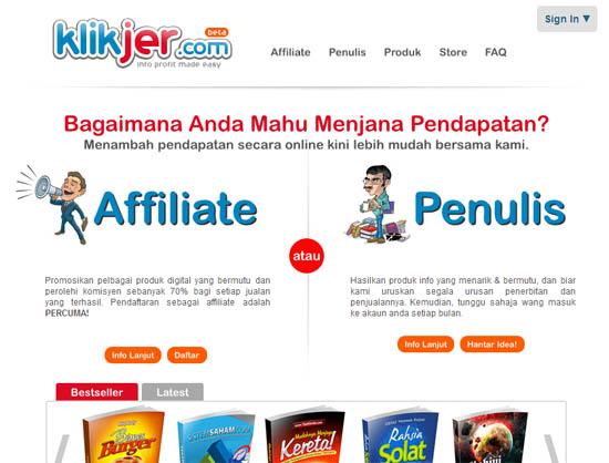 Cara Daftar Affiliate KlikJer.com
