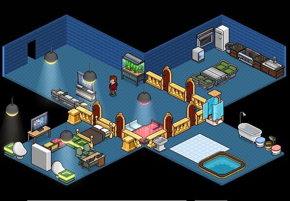 Quarto Habblet ~ tipos de quarto para habblet