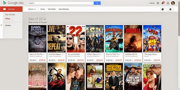 The best movies in the Google Play 2014