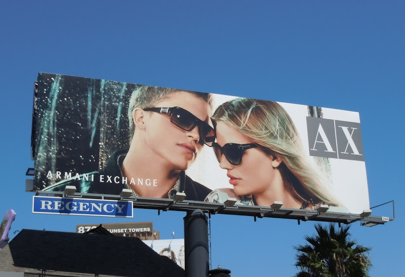 AX sunglasses billboard