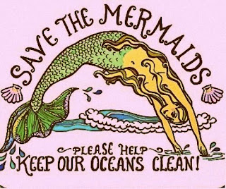 save the mermaids graphic