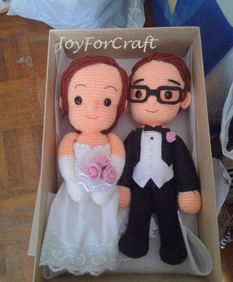 crochet amigurumi wedding couple doll cute lovely gift