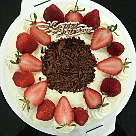 The Strawberry Is A Compliment That Makes The Whole Cake So Refreshing And Looks Prettier Too