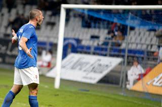Diego Cervero celebrando el gol contra el Marino de Luanco