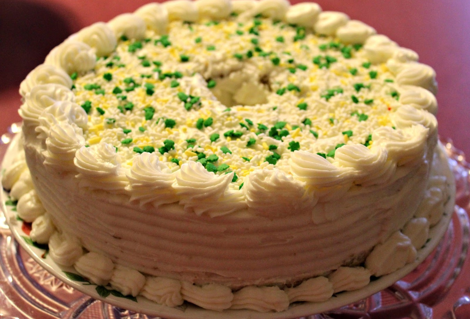 how to make pistachio cake and frosting