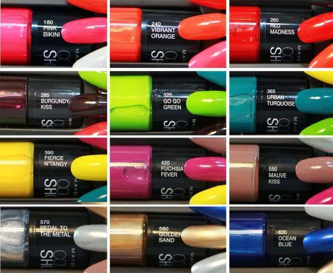 Baú com Vaidade: Esmaltes Maybelline - Color Show