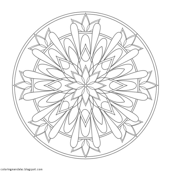 Coloring Mandalas 24 Shield of Light