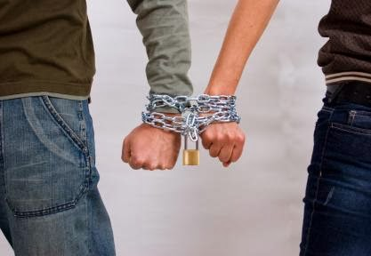 codependence - Codependency....Strong Enough To Kill Your Love- man woman tight hands chains