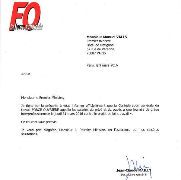 LoiTravail : FO appelle à la Grève le 31 mars   FO BOUCHARA