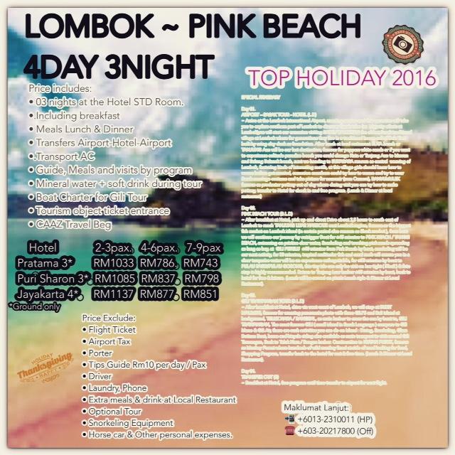 LOMBOK - PINK BEACH