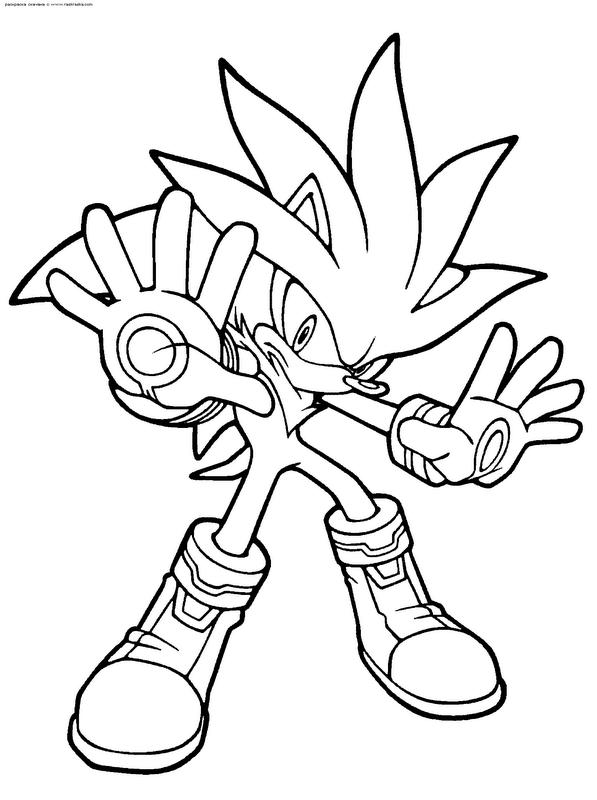 Sonic para colorear gratis - Imagui