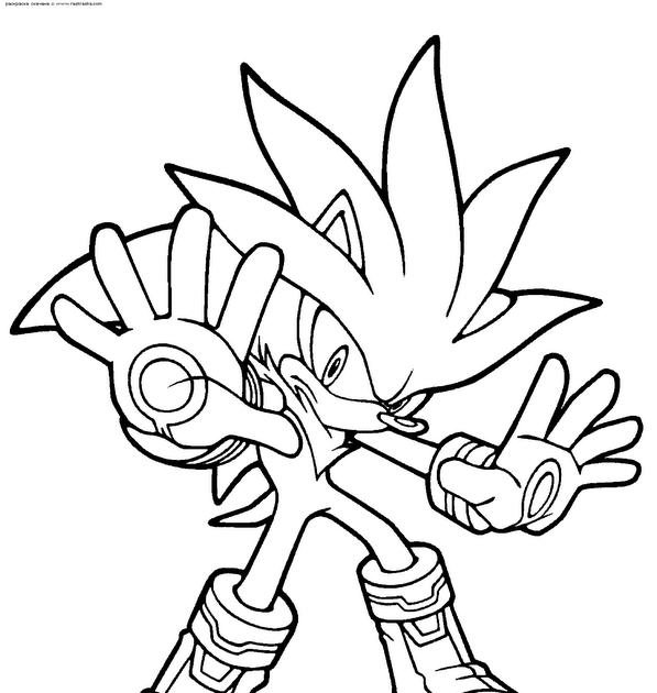 10 Imágenes de Sonic infantiles para colorear | VLC peque