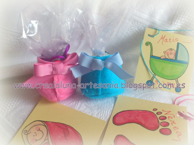 Crealaluna artesania detalles para celebraciones bautizos baby shower - Detalles para baby shower ...