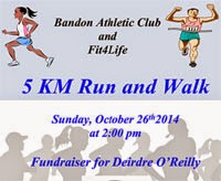 5k in Bandon,,,Sun 26th Oct