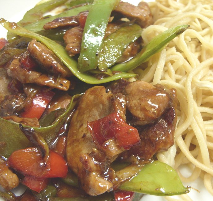 Jenny Eatwell's Rhubarb & Ginger: Stir-fried pork with ginger & h...