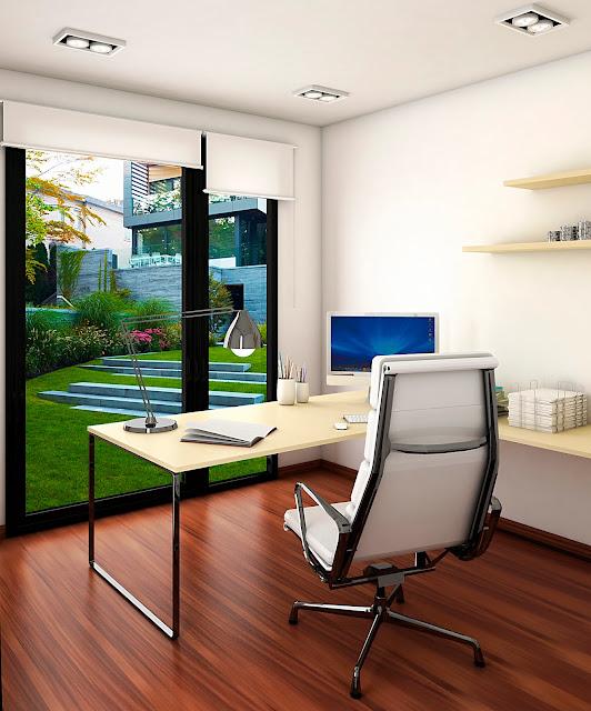 Despacho 9 con porche - Resan Modular - Interior