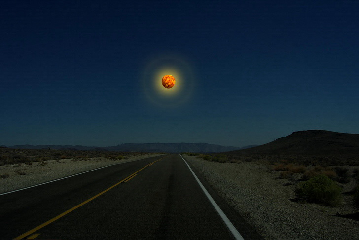 Mercurio en lugar de la Luna