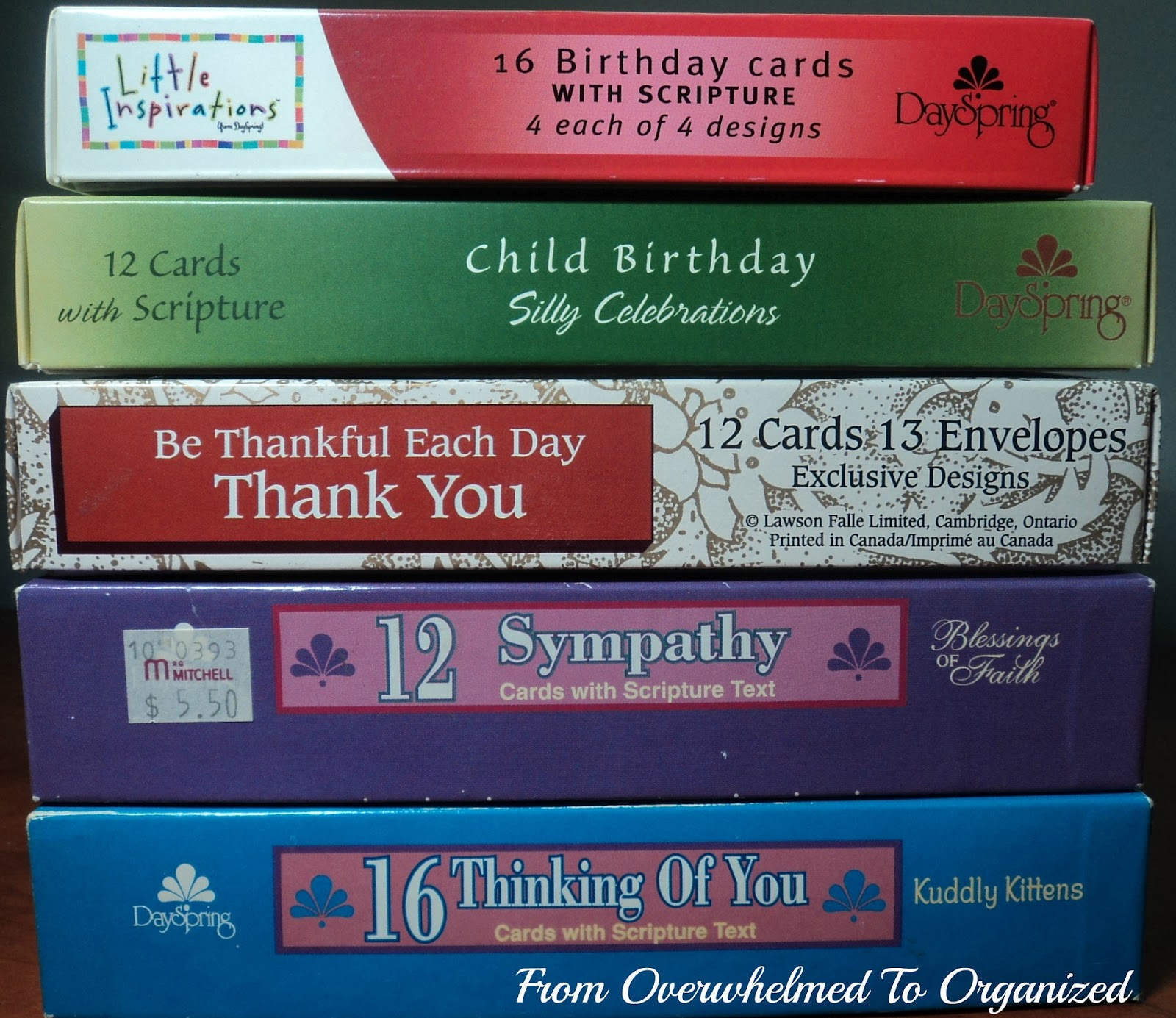 Organizing my greeting cards from overwhelmed to organized as promised in the gift wrap post this post will show how i recently reorganized my greeting cards some people do not need a system for organizing m4hsunfo