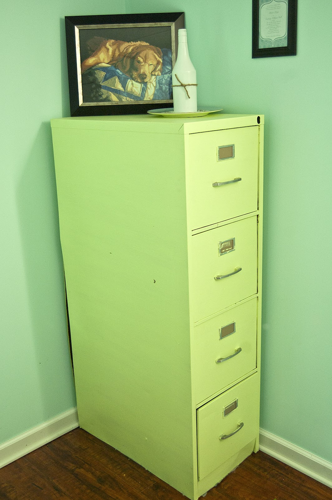 Green File Cabinet Ohh Baby Diy Thursday File Cabinet Reveal