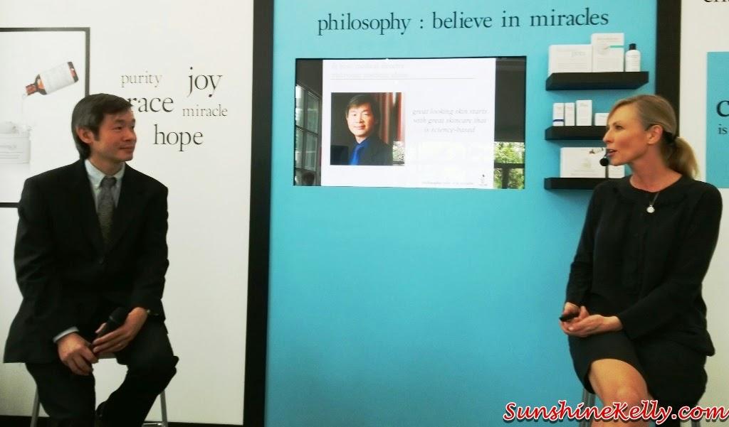 Philosophy Skincare in Malaysia, Philosophy Skincare, skincare, usa skincare, believe in miracles, dr hew yin keat, robin white