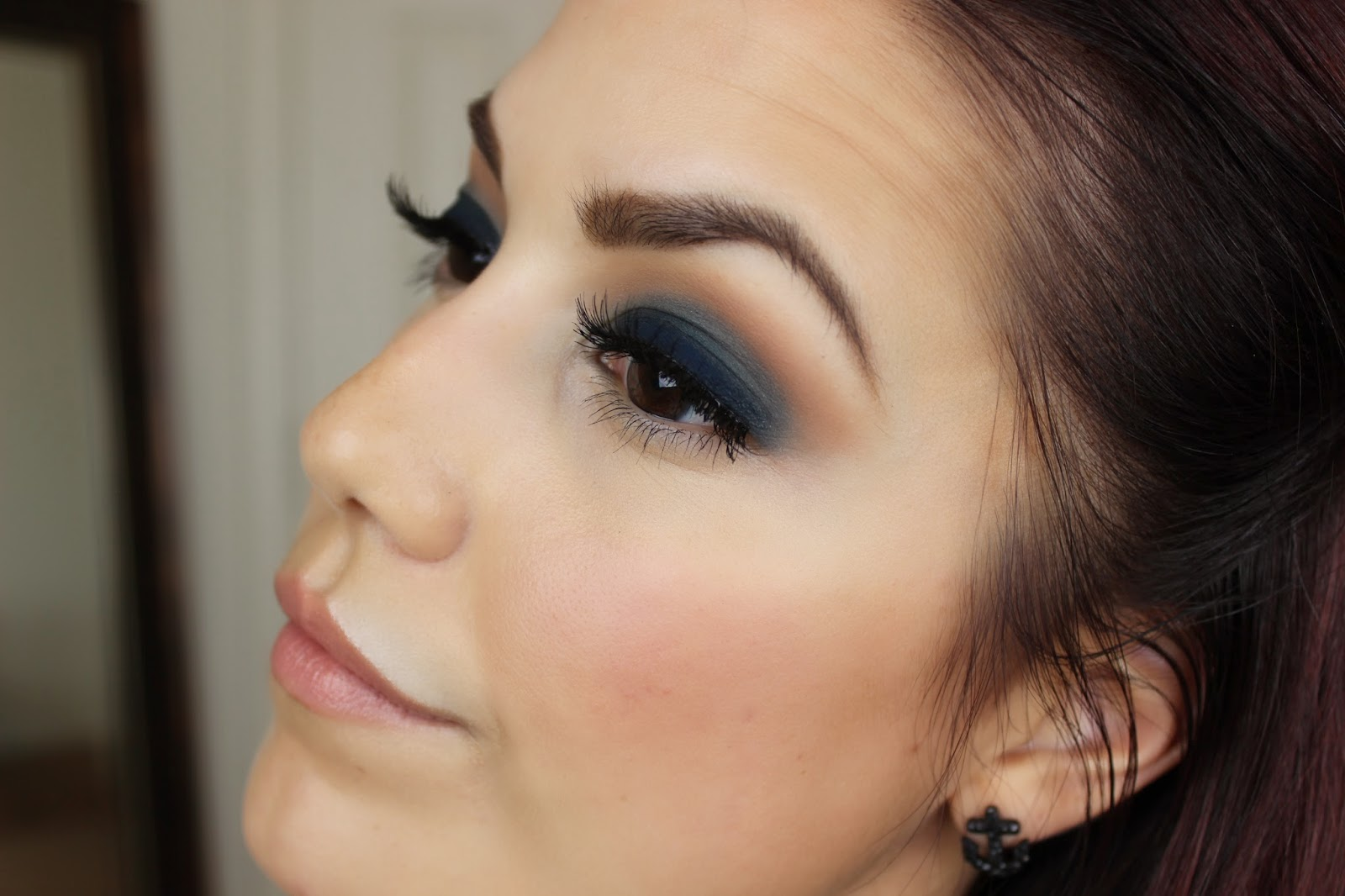 Glamour by lexi r navy smokey eye with lorac pro 2 palette here are the details on how to recreate this look baditri Gallery