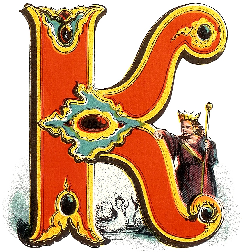 Illuminated Letters K Celtic illuminated letter l. from the book of ...