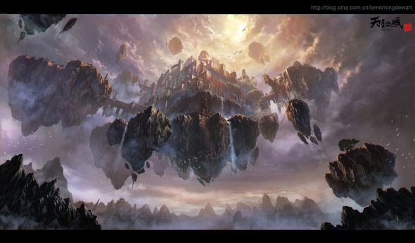 Liang Xing fantasy games illustrations Landscapings