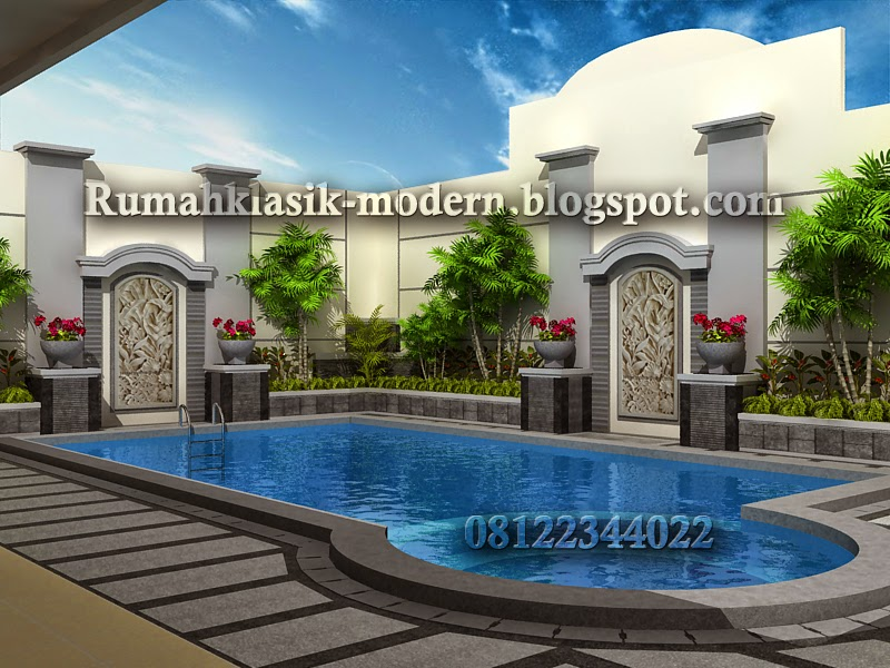 Kolam renang rumah klasik  kolam renang rumah klasik modern kolam renang rumah kolam renang idaman & Desain Rumah Klasik - Modern - Cantik - Mewah - berkwalitas