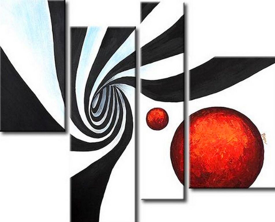 Схемы триптих черно-белые
