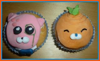 octonauts cupcakes, inkling, tunip