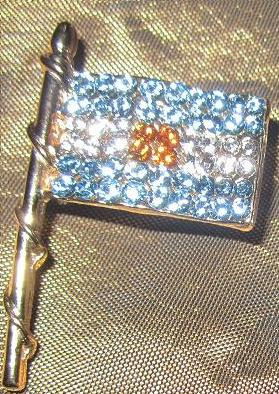Bandera Mastil Cristales