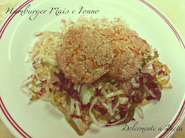 ricetta salata: hamburger di mais e tonno