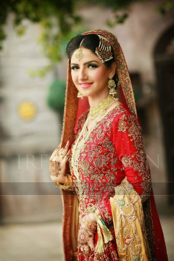 Gold pakistani wedding dresses