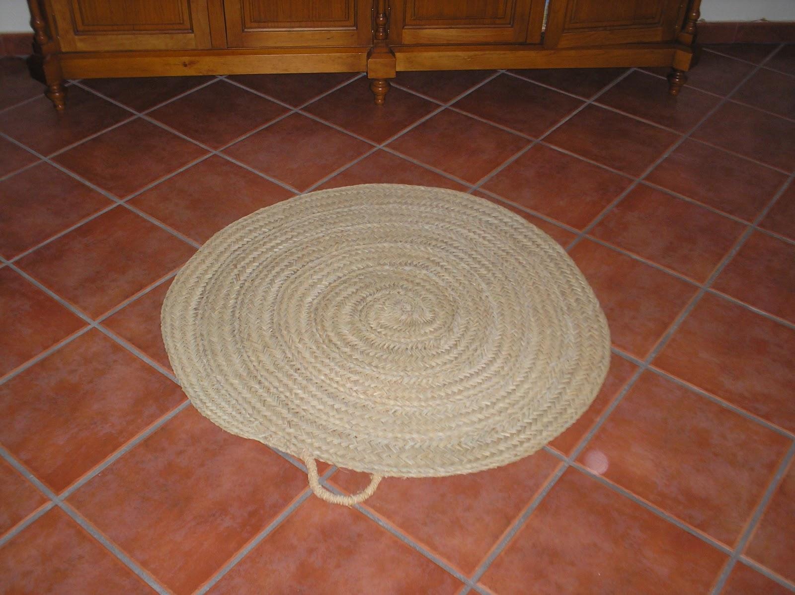 Artesan a con esparto alfombras - Artesania esparto ...