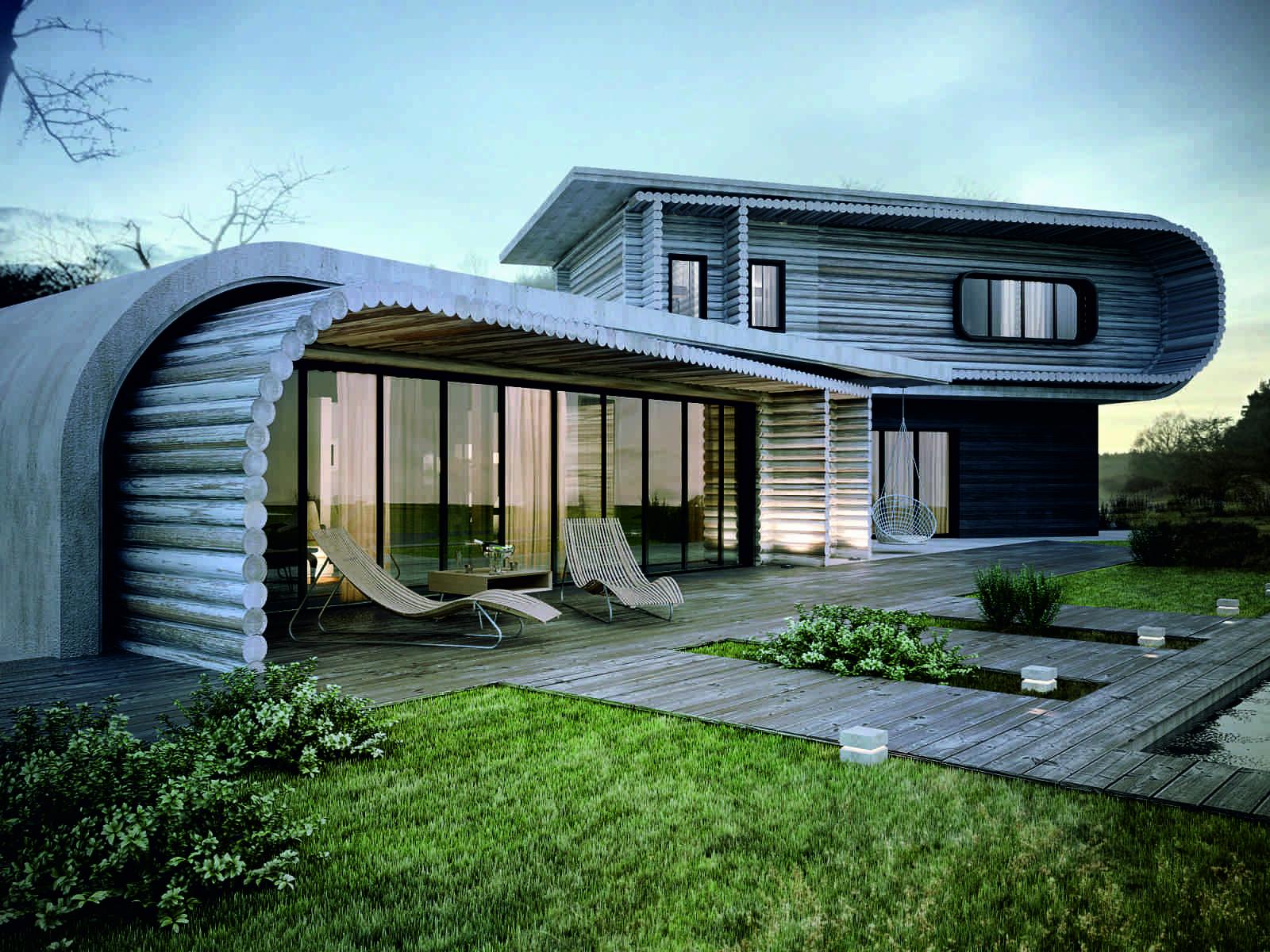 Architect designing houses