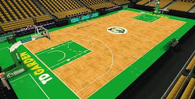 NBA 2K14 TD Garden - HD Texture Court Mod