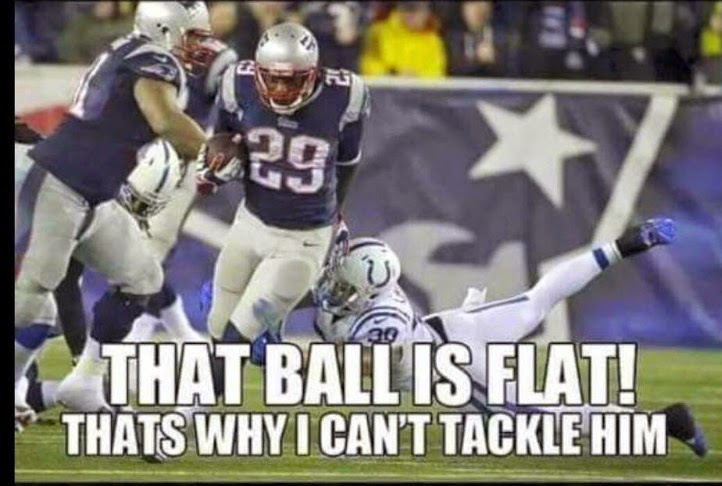 That ball is flat! thats why I can't tackle him