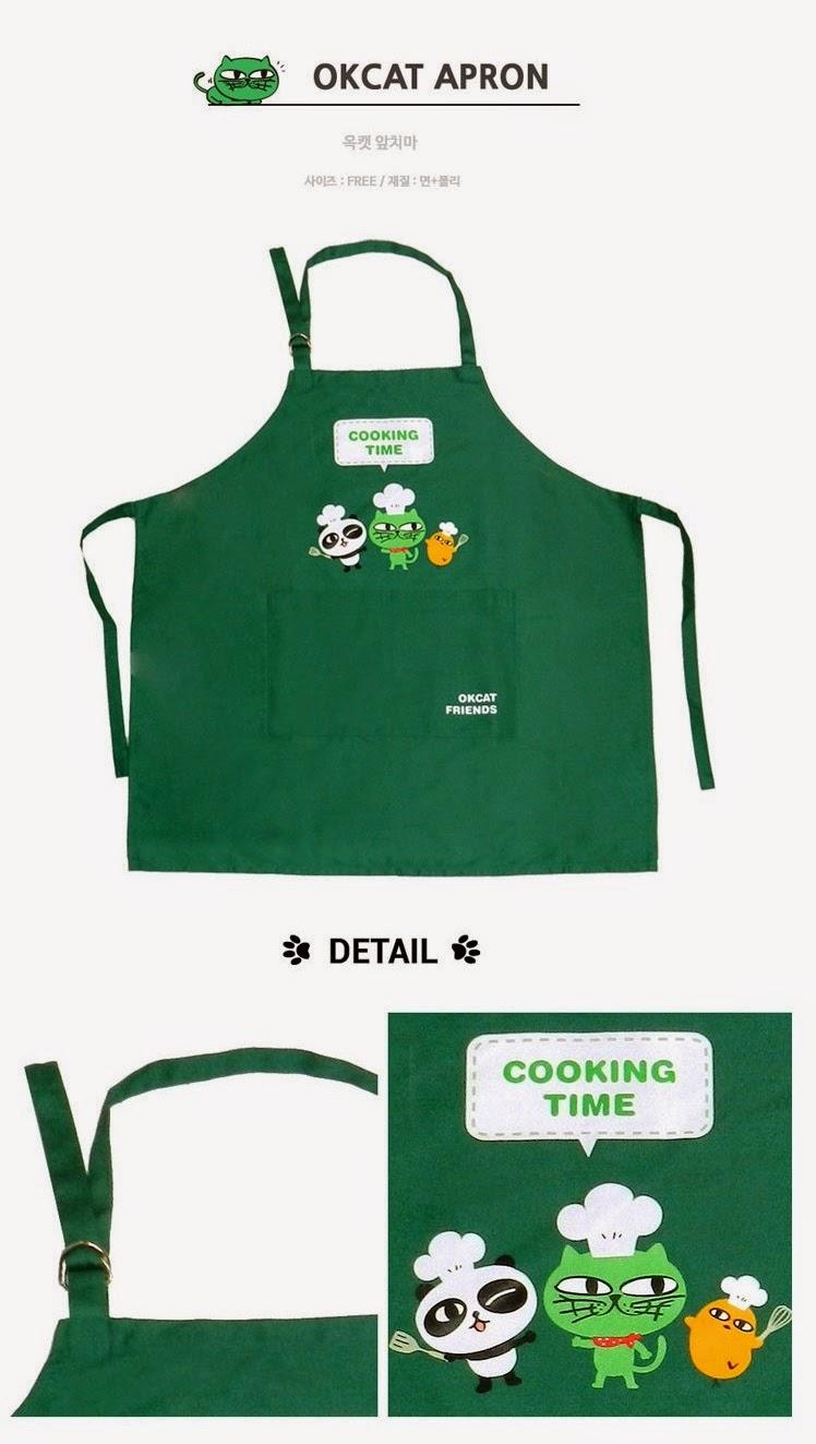 kedai kpop my   merchandise  okcat apron