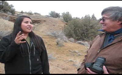 Native American Woman Sees Bigfoot