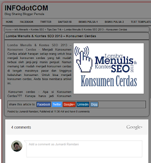 Membuat Form Komentar Google+ Di Blog Blogger