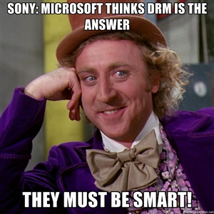 Sony's reaction to Microsoft's DRM policy
