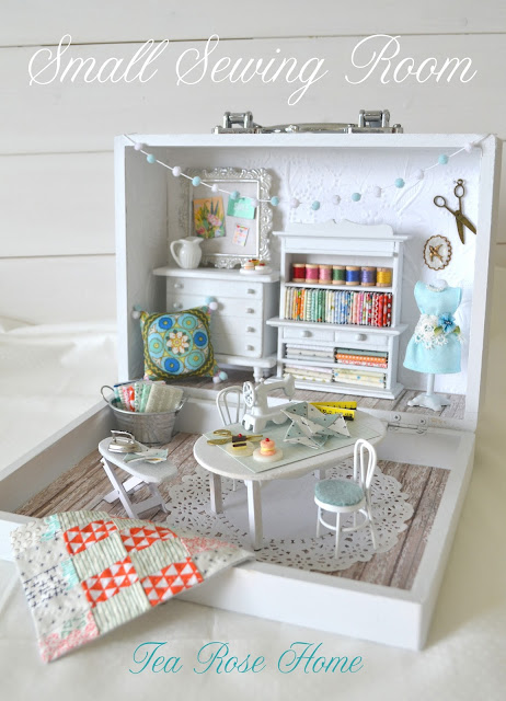 Big Reveal Of Small Sewing Room Tea Rose Home Bloglovin