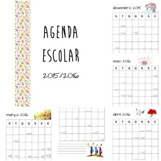 Agenda escolar mensal 2015-2016