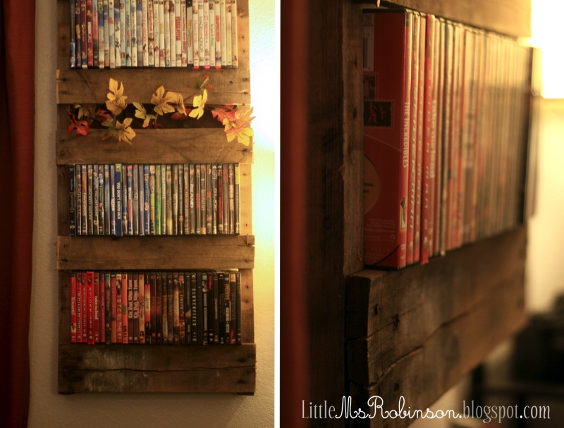 DVD Rack Made Out of Pallets