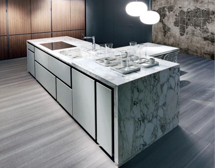 Cocinas de modulaci n asim trica cocinas con estilo for Encimera imitacion marmol