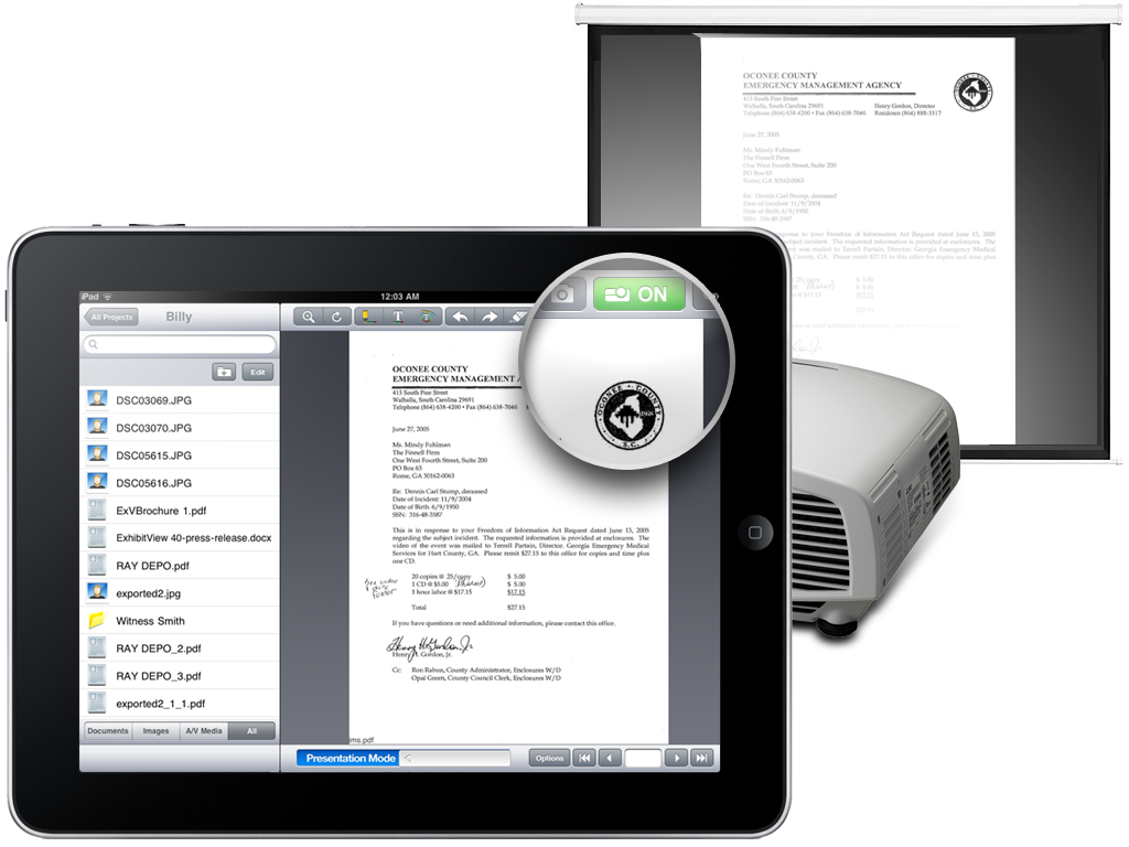 Review exhibitview for ipad the tech next for Ipad pro projector