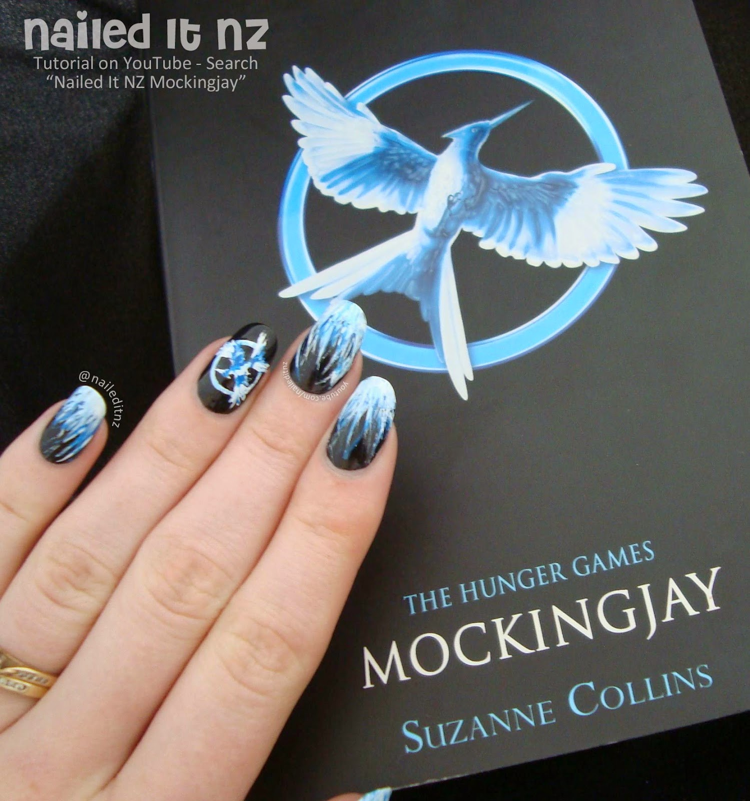 Mockingjay Nail Art Tutorial | The Hunger Games