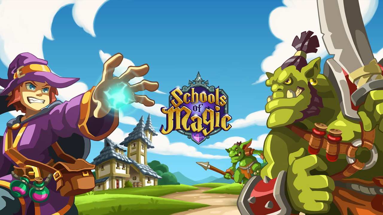 Schools of Magic Gameplay IOS / Android