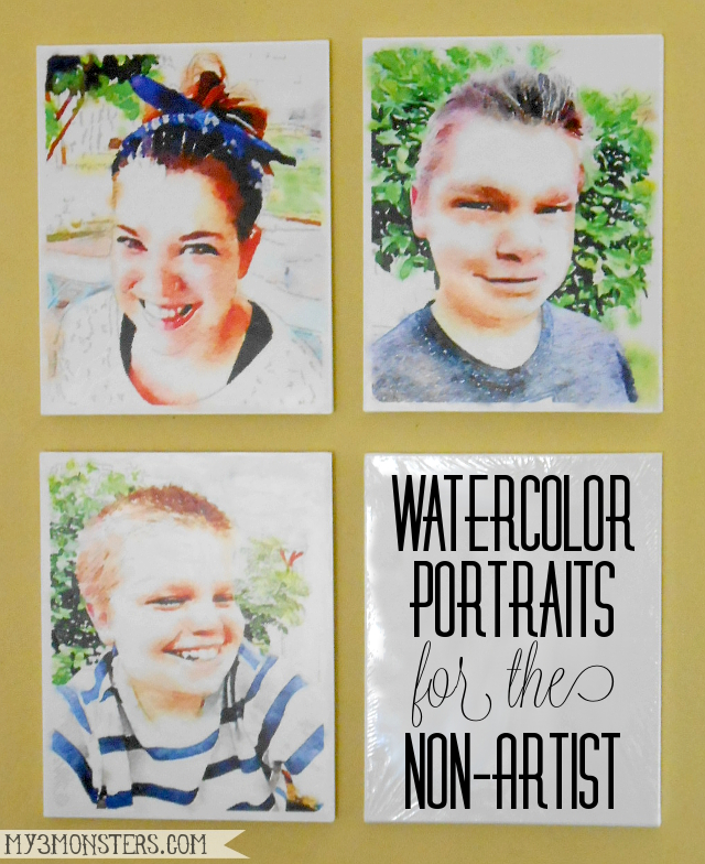 Watercolor Portraits for the Non-Artist at my3monsters.com