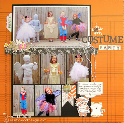 Boo Crew Halloween Scrapbook page by Tessa Wise